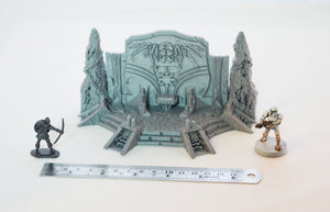 Skyless Realms - Spider Queen Throne 28mm 32mm Wargaming Terrain D&D, DnD, Pathfinder, SW Legion, Warhammer