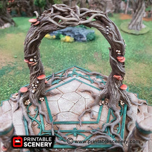 Dwarves, Elves and Demons - Elven Portal 15mm 28mm 32mm Wargaming Terrain D&D, DnD, Pathfinder, SW Legion, Warhammer, 40k