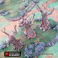 Load image into Gallery viewer, Dwarves, Elves and Demons - Gloomwood Trees 28mm 32mm Wargaming Terrain D&D, DnD, Pathfinder, SW Legion, Warhammer, 40k
