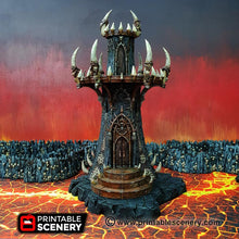 Load image into Gallery viewer, Dwarves, Elves and Demons - Infernal Tower 28mm Wargaming Terrain D&D, DnD, Pathfinder, SW Legion, Warhammer, 40k