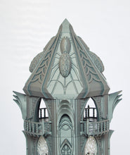Load image into Gallery viewer, Skyless Realms - Dark Elf Modular Tower - 28mm 32mm Wargaming Terrain D&D, DnD, Pathfinder, SW Legion, Warhammer