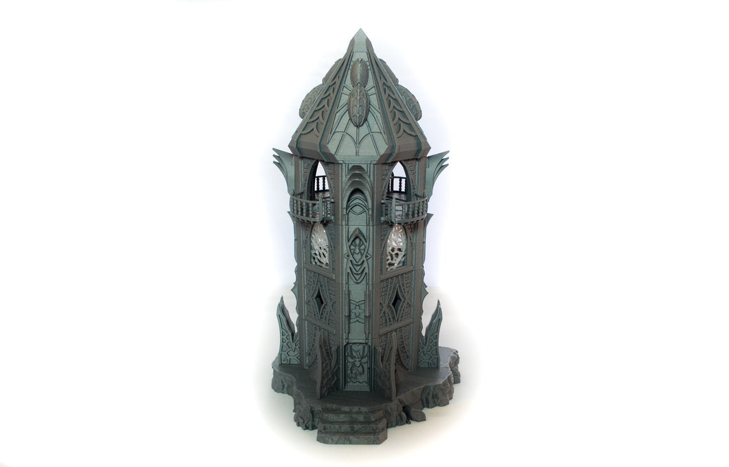Skyless Realms - Dark Elf Modular Tower - 28mm 32mm Wargaming Terrain D&D, DnD, Pathfinder, SW Legion, Warhammer