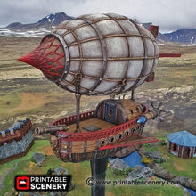 Load image into Gallery viewer, Dwarves, Elves and Demons - Dwarven Airship 28mm Wargaming Terrain D&D, DnD, Pathfinder, SW Legion, Warhammer, 40k, Steam