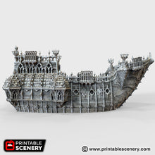 Load image into Gallery viewer, The Lost Islands - The Black Ship - 28mm Wargaming Terrain D&D, DnD, Pathfinder, SW Legion, Warhammer, 40k, Pirates