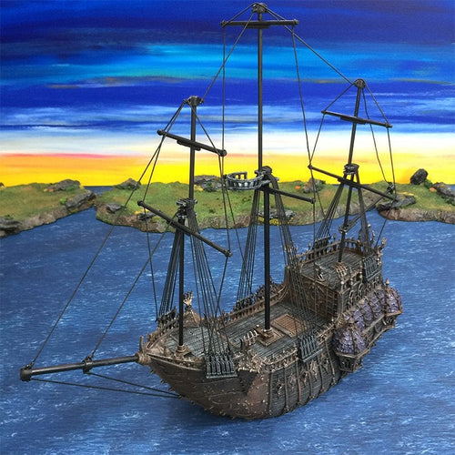 The Lost Islands - The Black Ship - 28mm Wargaming Terrain D&D, DnD, Pathfinder, SW Legion, Warhammer, 40k, Pirates