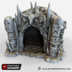 The Lost Islands - Shaman's Hut - 28mm 32mm Wargaming Terrain D&D, DnD, Pathfinder, SW Legion, Warhammer, 40k, Pirates