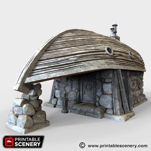 The Lost Islands - Boat House - 28mm Wargaming Terrain D&D, DnD, Pathfinder, SW Legion, Warhammer, 40k, Pirates