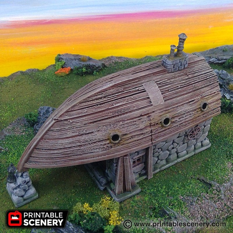 The Lost Islands - Boat House - 28mm Wargaming Terrain D&D, Pathfinder, SW Legion, Warhammer, 40k, Pirates