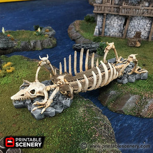 The Lost Islands - The Bone Bridge - 28mm 32mm Wargaming Terrain D&D, DnD, Pathfinder, SW Legion, Warhammer, 40k, Pirates