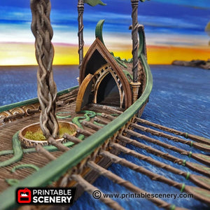 Dwarves, Elves and Demons - Dragon Galley 28mm Wargaming Terrain D&D, DnD, Pathfinder, SW Legion, Warhammer, 40k