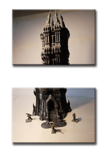 Towers - Dark Tower 28mm Wargaming Terrain D&D, DnD, Pathfinder, SW Legion, Warhammer, Lord of the Rings, Sauron