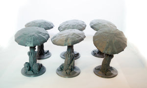 Large Mushrooms - 15mm 28mm 32mm Skyless Realms Wargaming Terrain, D&D, DnD, Pathfinder, SW Legion, Warhammer, 40k, Fungal Forest