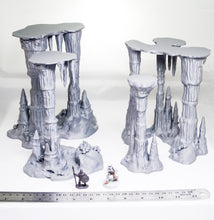 Load image into Gallery viewer, Skyless Realms - Wet Cavern Set 28mm 32mm 37mm Wargaming Terrain D&D, DnD, Pathfinder, SW Legion, Warhammer