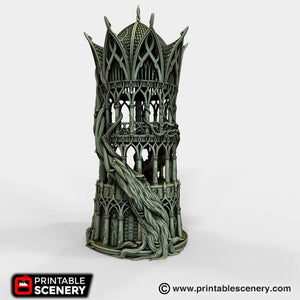 Dwarves, Elves and Demons - Tower Aeternus 28mm Wargaming Terrain D&D, DnD, Pathfinder, SW Legion, Warhammer, 40k