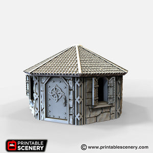 Dwarves, Elves and Demons - Dwarven House 28mm 32mm Wargaming Terrain D&D, DnD, Pathfinder, SW Legion, Warhammer, 40k, Sigmar