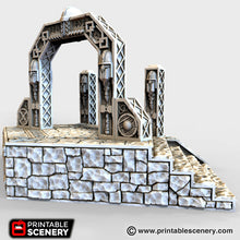 Load image into Gallery viewer, Dwarves, Elves and Demons - Dwarven Portal 15mm 28mm 32mm Wargaming Terrain D&D, DnD, Pathfinder, SW Legion, Warhammer, 40k