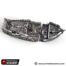 Load image into Gallery viewer, The Lost Islands - The Wreck - 15mm 28mm 32mm Wargaming Terrain D&D, DnD, Pathfinder, SW Legion, Warhammer, 40k, Pirates
