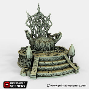 Dwarves, Elves and Demons - Living Throne 28mm 32mm Wargaming Terrain D&D, DnD, Pathfinder, SW Legion, Warhammer, 40k