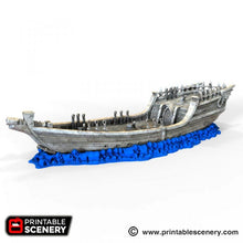Load image into Gallery viewer, The Lost Islands - The Dhow 28mm Wargaming Terrain D&D, Pathfinder, SW Legion, Warhammer, 40k, Pirates