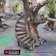 Load image into Gallery viewer, Dwarves, Elves and Demons - Elven Walkway - 28mm Wargaming Terrain D&D, DnD, Pathfinder, SW Legion, Warhammer, 40k, Pirates