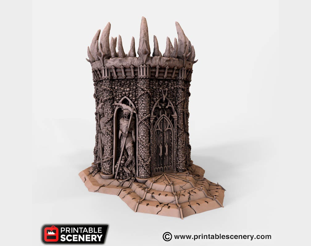 Dwarves, Elves and Demons - Temple of the Damned 28mm Wargaming Terrain D&D, DnD, Pathfinder, SW Legion, Warhammer, 40k