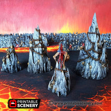 Load image into Gallery viewer, Dwarves, Elves and Demons - Tormented Scatter 28mm Wargaming Terrain D&D, DnD, Pathfinder, SW Legion, Warhammer, 40k