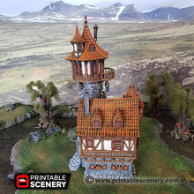 Load image into Gallery viewer, Dwarves, Elves and Demons - Sorcerer's Tower 28mm Wargaming Terrain D&D, DnD, Pathfinder, SW Legion, Warhammer, 40k, Sigmar