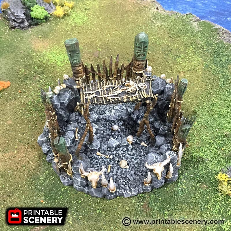 The Lost Islands - Burial Platform - 28mm 32mm Wargaming Terrain D&D, DnD, Pathfinder, SW Legion, Warhammer, 40k, Pirates