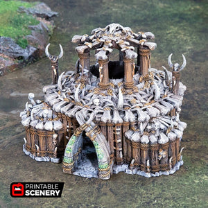The Lost Islands - The Witch Temple - 28mm Wargaming Terrain D&D, DnD, Pathfinder, SW Legion, Warhammer, 40k, Pirates