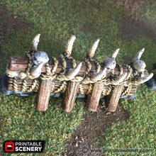 Load image into Gallery viewer, The Lost Islands - Tusk Fence 28mm 32mm Wargaming Terrain D&D, DnD, Pathfinder, SW Legion, Warhammer, 40k, Pirates