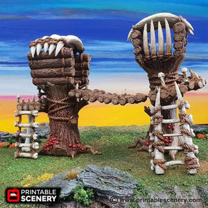 The Lost Islands - Tribal Cells - 28mm 32mm Wargaming Terrain D&D, DnD, Pathfinder, SW Legion, Warhammer, 40k, Pirates