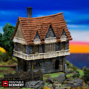 The Lost Islands - Port House - 15mm 28mm 32mm Wargaming Terrain D&D, DnD, Pathfinder, SW Legion, Warhammer, 40k, Pirates