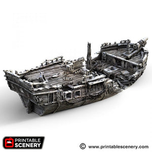 The Lost Islands - The Wreck - 15mm 28mm 32mm Wargaming Terrain D&D, DnD, Pathfinder, SW Legion, Warhammer, 40k, Pirates