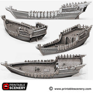 The Lost Islands - The Dhow 15mm 28mm 32mm Wargaming Terrain D&D, DnD, Pathfinder, SW Legion, Warhammer, 40k, Pirates