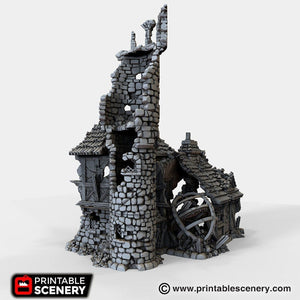 The Lost Islands - Ruined Navigator's Guild - 15mm 28mm 32mm Wargaming Terrain D&D, DnD, Pathfinder, SW Legion, Warhammer, 40k, Pirates