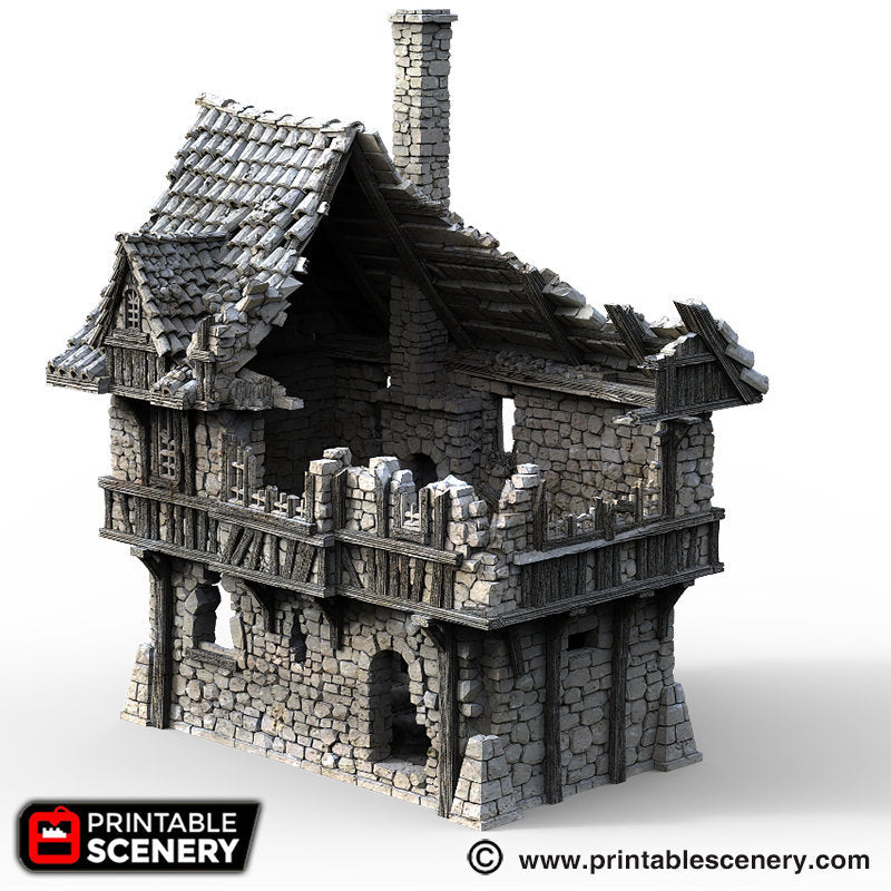 The Lost Islands - Ruined Port House - 15mm 28mm 32mm Wargaming Terrain D&D, DnD, Pathfinder, SW Legion, Warhammer, 40k, Pirates