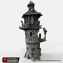 Load image into Gallery viewer, The Lost Islands - Ruined Wizard Tower - 15mm 28mm 32mm Wargaming Terrain D&D, DnD, Pathfinder, SW Legion, Warhammer, 40k, Pirates