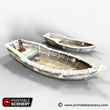 Load image into Gallery viewer, The Lost Islands - Skiff - 15mm 28mm 32mm Wargaming Terrain D&D, DnD, Pathfinder, SW Legion, Warhammer, 40k, Pirates