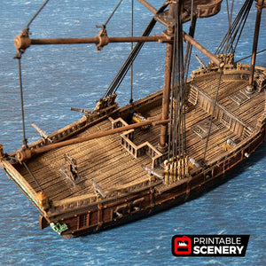 The Lost Islands - The Brig - 15mm 28mm 32mm Wargaming Terrain D&D, DnD, Pathfinder, SW Legion, Warhammer, 40k, Pirates