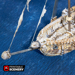 The Lost Islands - Undead Sloop - 15mm 28mm 32mm Wargaming Terrain D&D, DnD, Pathfinder, SW Legion, Warhammer, 40k, Pirates