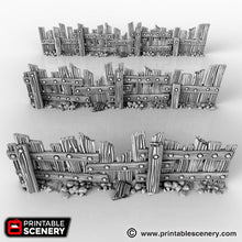 Load image into Gallery viewer, The Lost Islands - Ye Old Fence 15mm 28mm 32mm Wargaming Terrain D&D, DnD, Pathfinder, SW Legion, Warhammer, 40k, Pirates