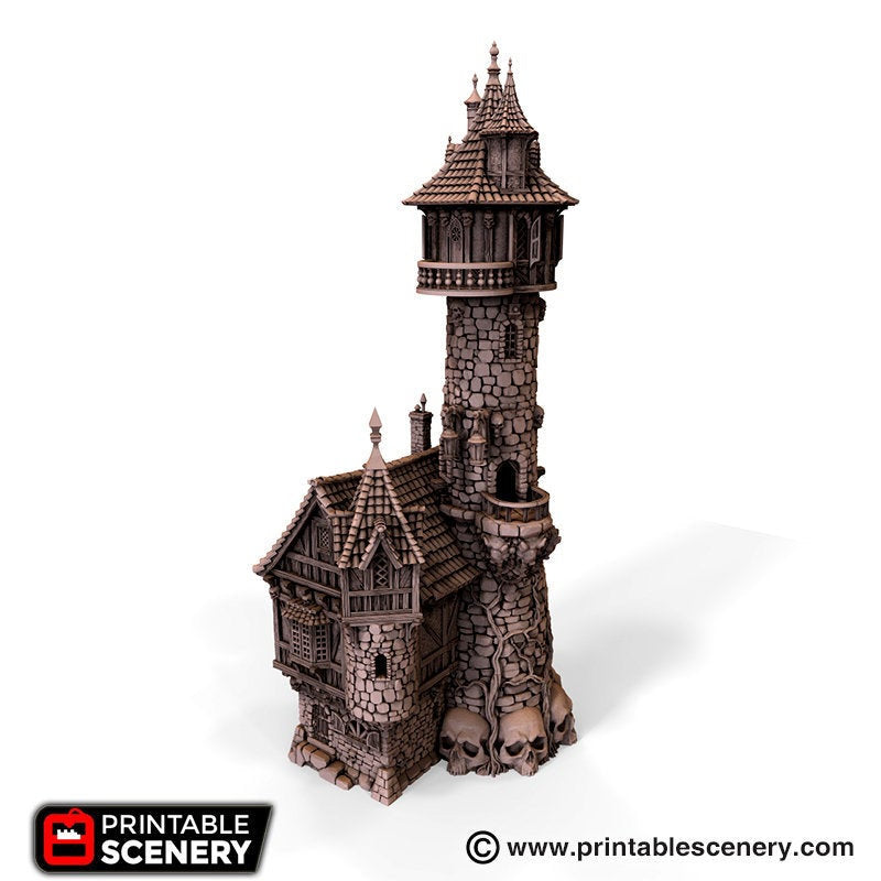 Dwarves, Elves and Demons - Evil Sorcerer's Tower 28mm 32mm Wargaming Terrain D&D, DnD, Pathfinder, SW Legion, Warhammer, 40k, Sigmar
