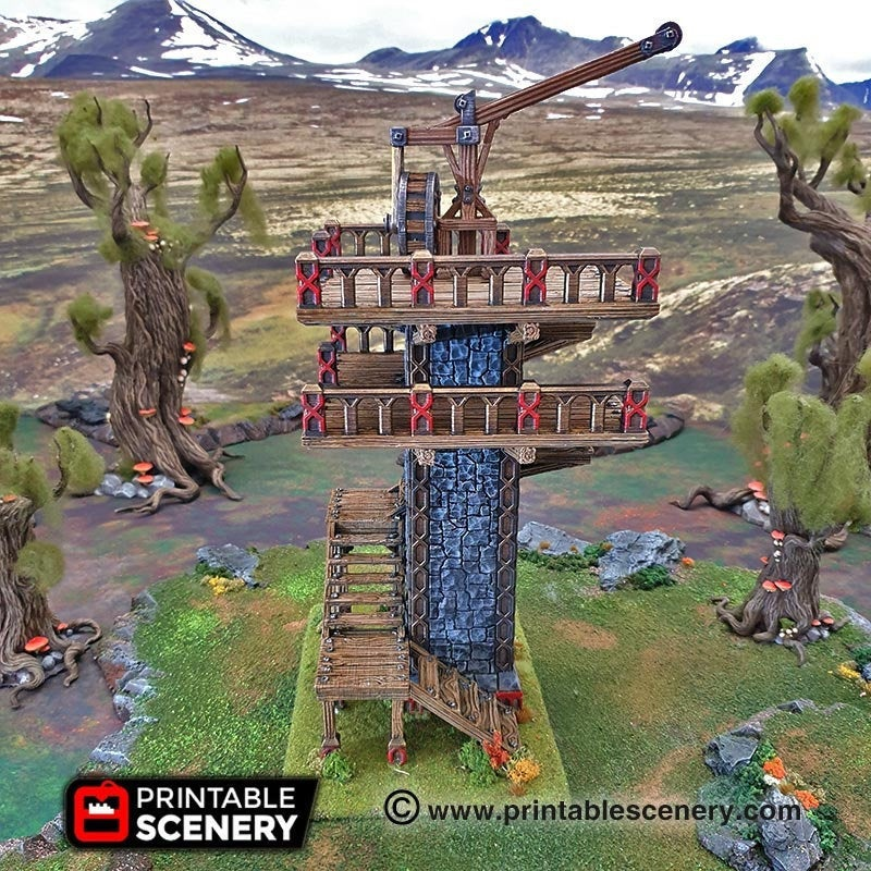 Dwarves, Elves and Demons - Ironhelm Skydock 28mm 32mm Wargaming Terrain D&D, DnD, Pathfinder, SW Legion, Warhammer, 40k