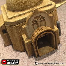 Load image into Gallery viewer, Future Buildings - Adobe Hut A 28mm 32mm Wargaming Terrain D&D, DnD, Pathfinder, SW Legion, Warhammer, 40k