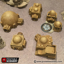 Load image into Gallery viewer, Future Buildings - Sci-Fi Settlement Bundle 28mm 32mm Wargaming Terrain D&D, DnD, Pathfinder, SW Legion, Warhammer, 40k
