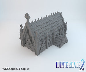 Winterdale - The Chapel 28mm 32mm Wargaming Terrain D&D, DnD, Pathfinder, SW Legion, Warhammer, 40k, Sigmar