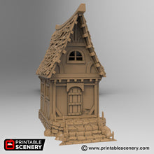 Load image into Gallery viewer, Winterdale - Small Cottage 28mm 32mm Wargaming Terrain D&D, DnD, Pathfinder, SW Legion, Warhammer, 40k, Sigmar