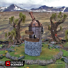 Load image into Gallery viewer, Winterdale - Observatory 28mm 32mm Wargaming Terrain D&D, DnD, Pathfinder, SW Legion, Warhammer, 40k, Sigmar, Steampunk
