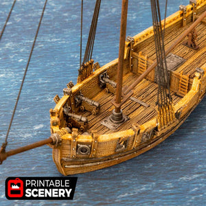 The Lost Islands - The Sloop - 28mm 32mm Wargaming Terrain D&D, Pathfinder, SW Legion, Warhammer, 40k, Pirates