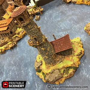 The Lost Islands - The Lighthouse - 15mm 28mm 32mm Wargaming Terrain D&D, DnD, Pathfinder, SW Legion, Warhammer, 40k, Pirates